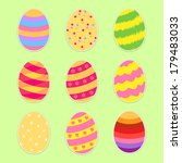 easter eggs set. flat style | Shutterstock . vector #179483033