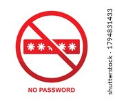 no password sign isolated on... | Shutterstock .eps vector #1794831433
