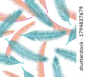 floral palm tree branches... | Shutterstock .eps vector #1794837679