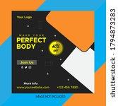 web banner design.gym fitness... | Shutterstock .eps vector #1794873283