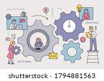 factory with huge gears.... | Shutterstock .eps vector #1794881563