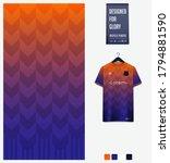 orange blue gradient geometry... | Shutterstock .eps vector #1794881590