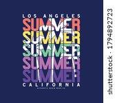 summer concept tee print design ...   Shutterstock .eps vector #1794892723