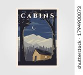 vintage cabins poster vector...   Shutterstock .eps vector #1794900073