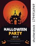 halloween party poster design...   Shutterstock .eps vector #1794916969