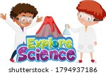 explore science logo and... | Shutterstock .eps vector #1794937186