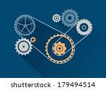 gear optimize illustration ... | Shutterstock .eps vector #179494514