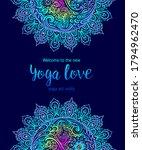 yoga card design. colorful... | Shutterstock .eps vector #1794962470