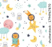 seamless childish pattern with... | Shutterstock .eps vector #1794967870