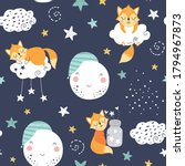 seamless childish pattern with... | Shutterstock .eps vector #1794967873