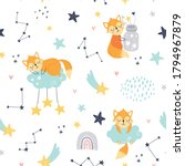 seamless childish pattern with... | Shutterstock .eps vector #1794967879