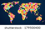 colorful rainbow map with... | Shutterstock .eps vector #179500400