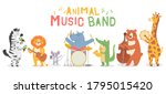 animal musicians characters.... | Shutterstock .eps vector #1795015420