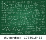 math theory. mathematics... | Shutterstock .eps vector #1795015483