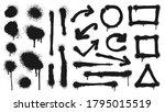graffiti spray lines  grunge...   Shutterstock .eps vector #1795015519