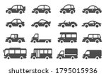 car icons. black vehicle... | Shutterstock .eps vector #1795015936