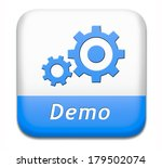 demo button or icon for free... | Shutterstock . vector #179502074