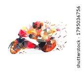 motorbike racing  road... | Shutterstock .eps vector #1795036756