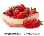Strawberries In Wooden Bowl...