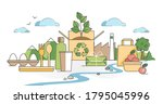 green packaging using natural... | Shutterstock .eps vector #1795045996