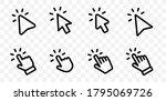 set of hand pointer symbol in... | Shutterstock .eps vector #1795069726