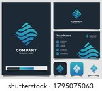 abstract river logo and... | Shutterstock .eps vector #1795075063