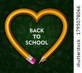 back to school. yellow graphite ...   Shutterstock .eps vector #1795078066