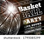 basketball party with a... | Shutterstock .eps vector #1795085299