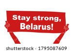 stay strong  belarus  red... | Shutterstock .eps vector #1795087609