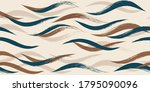 seamless wave pattern  hand... | Shutterstock .eps vector #1795090096