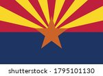 arizona flag official vector... | Shutterstock .eps vector #1795101130
