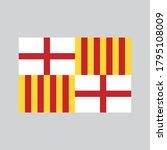 barcelona flag spain vector... | Shutterstock .eps vector #1795108009