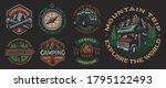 set of color vintage badges for ... | Shutterstock .eps vector #1795122493