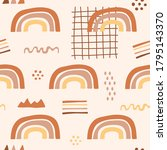 cute rainbow with abstract... | Shutterstock .eps vector #1795143370