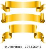 vintage golden ribbon banners... | Shutterstock .eps vector #179516048