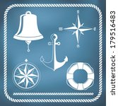 nautical symbols   compass ... | Shutterstock .eps vector #179516483