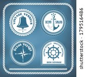 nautical symbols   compass ... | Shutterstock .eps vector #179516486