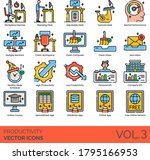 productivity icons including...   Shutterstock .eps vector #1795166953