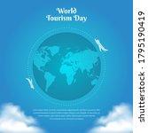 world tourism day background... | Shutterstock .eps vector #1795190419