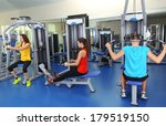 group of people training with... | Shutterstock . vector #179519150