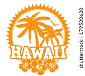hawaii travel rubber stamp on... | Shutterstock .eps vector #179520620