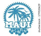 maui travel rubber stamp on... | Shutterstock .eps vector #179520629