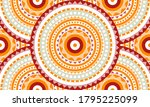 repeat ethnic circle pattern ... | Shutterstock .eps vector #1795225099