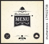restaurant menu design | Shutterstock .eps vector #179522738