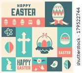 easter icon set | Shutterstock .eps vector #179522744