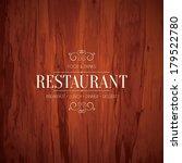 restaurant menu design   Shutterstock .eps vector #179522780