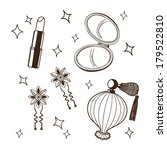women's accessories set. sketch ... | Shutterstock . vector #179522810