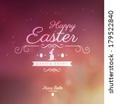 happy easter greeting card  | Shutterstock .eps vector #179522840