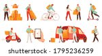 male courier characters from... | Shutterstock .eps vector #1795236259