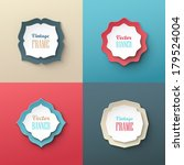 vintage labels on colorful... | Shutterstock .eps vector #179524004